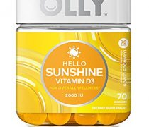 OLLY Hello Sunshine Gummy Supplement, with 2000 IU of Vitamin D3; Luminous Lemon; 70 count (70 day supply)