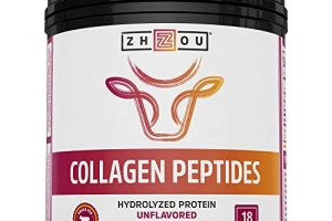 Collagen Peptides Hydrolyzed Protein Powder 18oz – Supplement For Vital Joint & Bone Support, Glowing Skin, Strong Hair & Nails, Digestive Health – Unflavored, Hormone-Free, Grass Fed & Pasture Raised