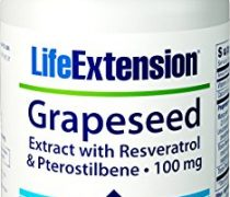 Life Extension Grapeseed Extract with Resveratrol and Pterostilbene 100 MG, 60 Vegetarian Capsules