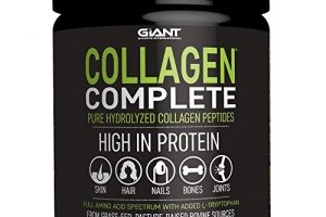 Collagen Complete Pure Hydrolyzed Collagen Powder – Grass-Fed, Pasture-Raised, Non-GMO, and Gluten Free Collagen Peptides- 44 Servings