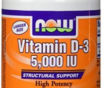 Now Vitamin D-3 5000 IU, 240 Softgels, Pack of 3