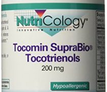 Nutricology Tocomin Suprabio Tocotrienols Softgels, 200mg, 120 Count
