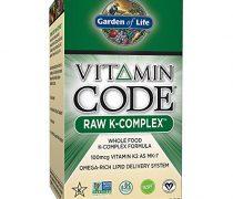 Garden of Life Vitamin K – Vitamin Code Raw K Complex Whole Food Vitamin Supplement, Vegan, 60 Capsules