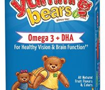 Yummi Bears Omega 3 + DHA Gummy Vitamin Supplement for Kids, 90 Gummy Bears