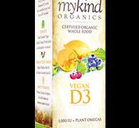 Garden of Life D3 Vitamin – mykind Organic Whole Food Vitamin D Supplement with Plant Omegas, Vegan, Vanilla, 2oz Liquid Spray