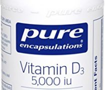 Pure Encapsulations – Vitamin D3 5,000 IU – Hypoallergenic Support for Bone, Breast, Prostate, Cardiovascular, Colon and Immune Health* – 60 Capsules