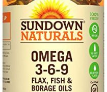 Sundown Naturals Triple Omega 3-6-9, 200 Softgels