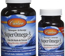 Carlson Super Omega-3, 100 Soft gels+30 Softgels (1200 mg )
