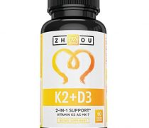 Vitamin K2 (MK7) with D3 Supplement – Vitamin D & K Complex – Bone and Heart Health Formula – 5000 IU Vitamin D3 & 90 mcg Vitamin K2 MK-7 – 60 Small & Easy to Swallow Vegetable Capsules