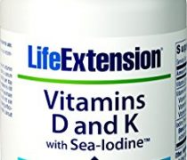 Life Extension Vitamin D and K with Sea-Iodine, 60 Capsules