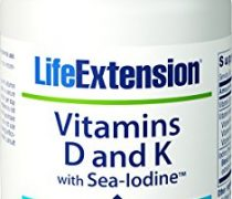 Life Extension Vitamins D and K with Sea-Iodine 60 capsules (2 pack)