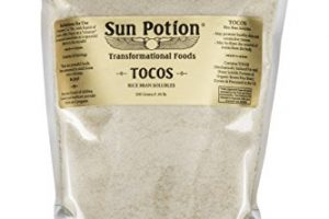 TOCOS Powder 200g by Sun Potion – Organic Rice Bran Solubles – Tocotrienols Ultimate Superfood High in Vitamin E Promotes Healthy Skin Care Connective Tissue and Muscle Function – Raw, Pure, Non-GMO