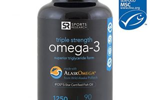 Omega-3 Wild Alaskan Fish Oil (1250mg per capsule) with superior Triglyceride EPA & DHA | Heart, Brain & Joint Support | IFOS 5 Star Certified, non-GMO & Gluten free ~ 180 Fish gel Capsules