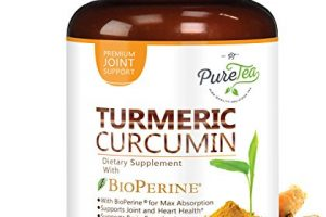 Turmeric Curcumin Max Potency 95% Curcuminoids 1950mg with Bioperine Black Pepper for Best Absorption, Anti-Inflammatory Joint Relief, Turmeric Supplement Pills by PureTea – 60 Capsules