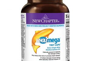 New Chapter Fish Oil Supplement – Wholemega Wild Alaskan Salmon Oil with Omega-3 + Vitamin D3 + Astaxanthin + Sustainably Caught –  90 ct Tiny Caps