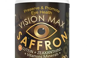 Vision Max, Saffron Plus Lutein, Zeaxanthin, Meso Zeaxanthin + Grape Seed Extract Plus AREDS 2 Vitamin, Minerals 60 Capsules | Potent Fine Quality Unique Supplement Macula, Eye & Vision