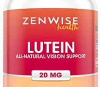 Lutein 20mg Vitamin Supplement with Zeaxanthin – Provides All-Natural Benefits for Eyes – For Healthy Retinal Tissue and Vision – Reduce Eye Strain & Fatigue – Brain & Memory Booster – 120 Softgels