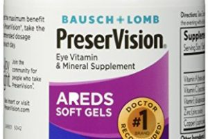 Bausch and Lomb PreserVision AREDS Formula Eye Vitamins – 180 Softgels