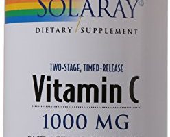 Solaray C Two-Stage Timed Release Supplement, 1000mg, 250 Count