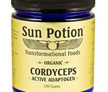 Cordyceps Mushroom Powder 100g by Sun Potion – Certified Organic Extract – Superfood Supplement, Adaptogen, Immune Booster, Recovery, Energy Support