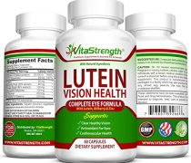 Vision Health Complete Eye Formula With Essential Vitamins For Eyes – With 20mg Lutein Plus Bilberry, Zinc and Other Eye Care Nutrients – Lutein For Eyes – 60 Eye Vision Capsules