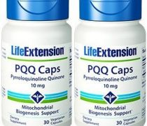 Life Extension PQQ Caps with PQQ 10 mg, 30 Vcaps  (2 Pack)