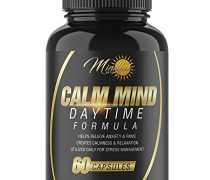 Calm Mind Daytime Formula: All-Natural Herbal Stress And Anxiety Relief Supplement- Great For Professionals And Mothers On The Go – Backed By Science