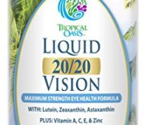 Liquid 20/20 Vision – Eye Vitamin Formula w/ 20mg Lutein, 4mg Zeaxanthin, & 4mg Astaxanthin for Vision Support –Max Absorption- Great Taste & No Pills to Swallow– 32 Serv, 32oz