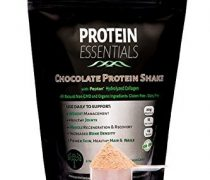 Protein Essentials Chocolate Collagen Peptides Drink Mix, Non GMO and Organic Ingredients (21oz) (Chocolate Flavor)