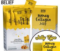 Nutra Belief Daily Edible Collagen Peptides Jelly Supplement, Better Than Gummies, Boosts Natural Skin Growth Elasticity and Revitalization With Aloe Vera Gel and Manuka Honey (21 Count)