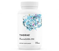 Thorne Research – PharmaGABA-250 – Natural Source GABA (Gamma-Aminobutyric Acid) Supplement – Promotes a Calm, Relaxed, Focused State of Mind – 60 Capsules