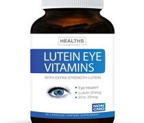 Lutein Eye Vitamins (NON-GMO) Vision Support Supplement for Dry Eyes & Vision Health Care – Bilberry – Proudly Made in the USA – 100% Money Back Guarantee – 60 Capsules