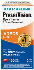 PreserVision AREDS Lutein Eye Vitamin & Mineral Supplement, Beta-Carotene Free, Soft Gels, 120 ct 1