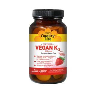 Country Life Vegan K-2 - 60 Loz