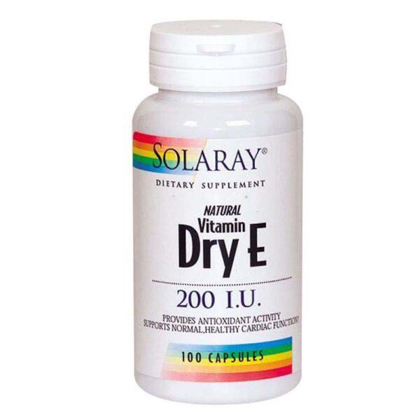 Dry From Vitamin E 100 Caps by Solaray