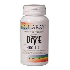Dry From Vitamin E 50 Caps by Solaray