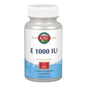 E 1000 30 Softgels by Kal