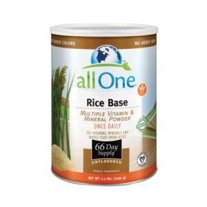 All-One (Nutri-Tech) Multiple Vitamin and Mineral Powder, Rice Base - 1000 GRM (66 Day Supply)