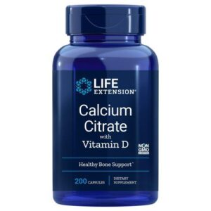 Calcium Citrate W/Vitamin D 200 Veg Caps by Life Extension