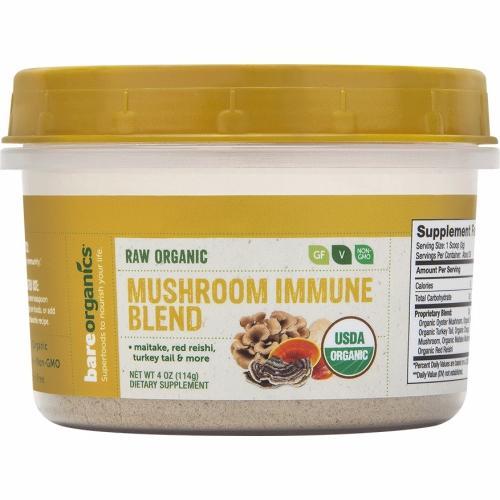 Organic Mushroom Immune Blend 4 Oz by Bare Organics
