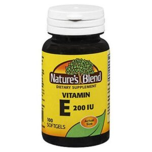 NatureS Blend Vitamin E Soft Gels 100 Caps by Natures Blend