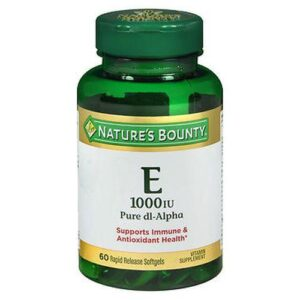Natures Bounty Vitamin E Softgels 60 Caps by Natures Bounty