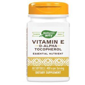 Nature's Way Vitamin E - D-ALPHA SOFTGEL, 60 CAP