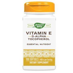 Nature's Way Vitamin E - D-ALPHA SOFTGEL, 100 CAP