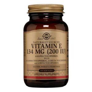 Solgar Vitamin E Mixed (d-Alpha Tocopherol and Mixed Tocopherols) - 100 S Gels