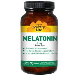 Country Life Melatonin (Rapid Release) - 90 Tabs