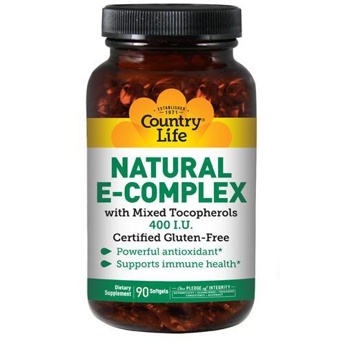 Country Life Vitamin E Complex 400IU - 90 Sftgls