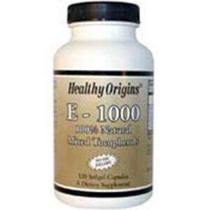Healthy Origins Natural Vitamin E - 120 Soft Gels