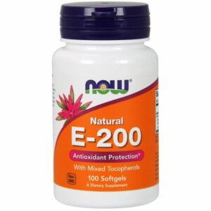 Now Foods E-200 MT - 100 Sgels