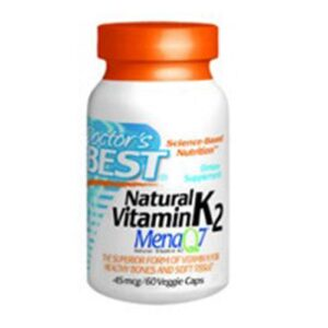 Doctors Best Natural Vitamin K2 Featuring MenaQ7 - 60 VCaps